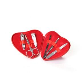 detalles de boda - set manicura corazon rojo