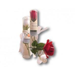 Rosa con pétalos de jabón para Boda