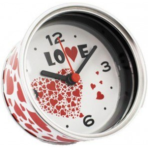 Reloj en lata abrefacil modelo corazones