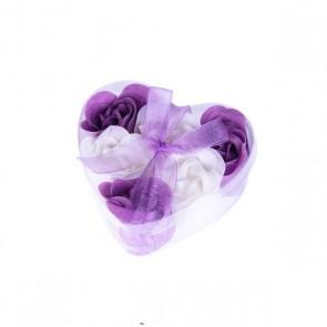 Rosas de jabón en estuche corazón