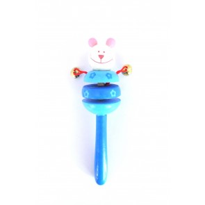 Obsequios de bautizo -  Sonajero ratón azul