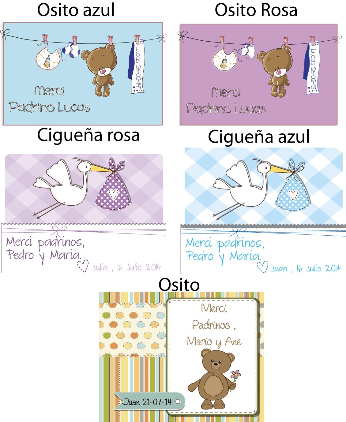 ejemplos tarjeta merci