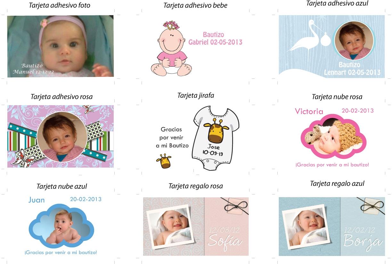 ejemplos tarjeta