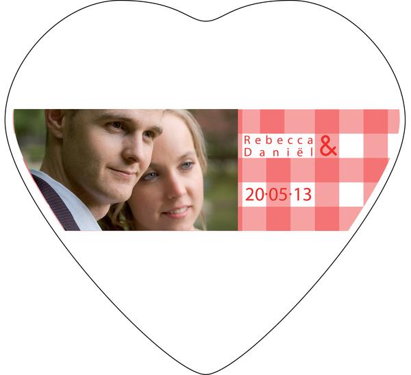 Lata en froma de corazón con impresión personalizada en tapa - Cuadros con Foto