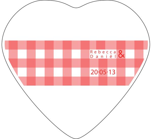 Lata en froma de corazón con impresión personalizada en tapa - Cuadros
